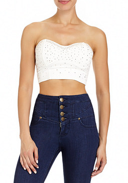 2b Studded Bustier Crop Top