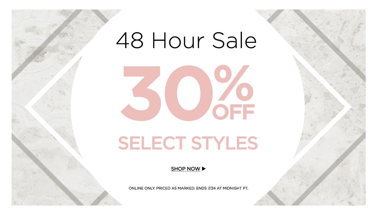 48 Hour Sale 30% Off