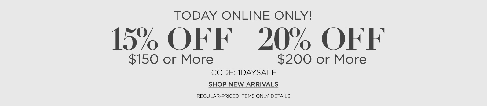 TODAY ONLINE ONLY!