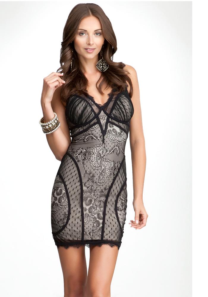 V-Neck Lace Dress - ONLINE EXCLUSIVE