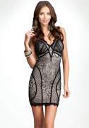 V-Neck Lace Dress - ONLINE EXCLUSIVE at bebe