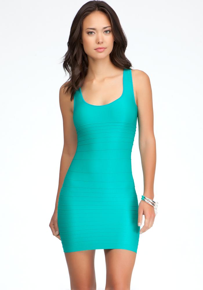 Back Cutout Shine Bodycon Dress