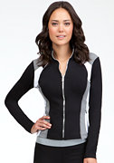 Colorblock Jacket - BEBE SPORT ONLINE EXCLUSIVE at bebe