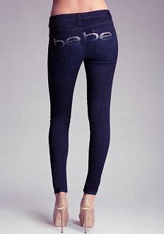 bebe bebe Logo Super Stretch Skinny Jean