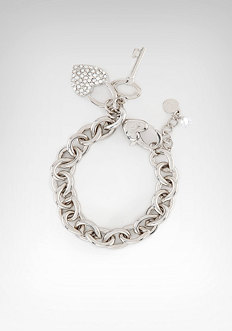 Heart Logo Charm Bracelet - ONLINE EXCLUSIVE at bebe