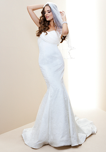 bebe Drape Top Lace Mermaid Bridal Gown - Rami Kashou