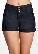 bebe High Waisted Denim Short