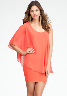 Maline Asymmetric Sleeve Dress - ONLINE EXCLUSIVE at bebe