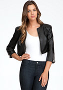 bebe Cropped Zipper Leatherette
