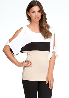 Colorblock Kimono Sleeve Tunic - ONLINE EXCLUSIVE at bebe