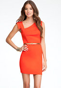 bebe Eloise Asymmetric Neckline Dress