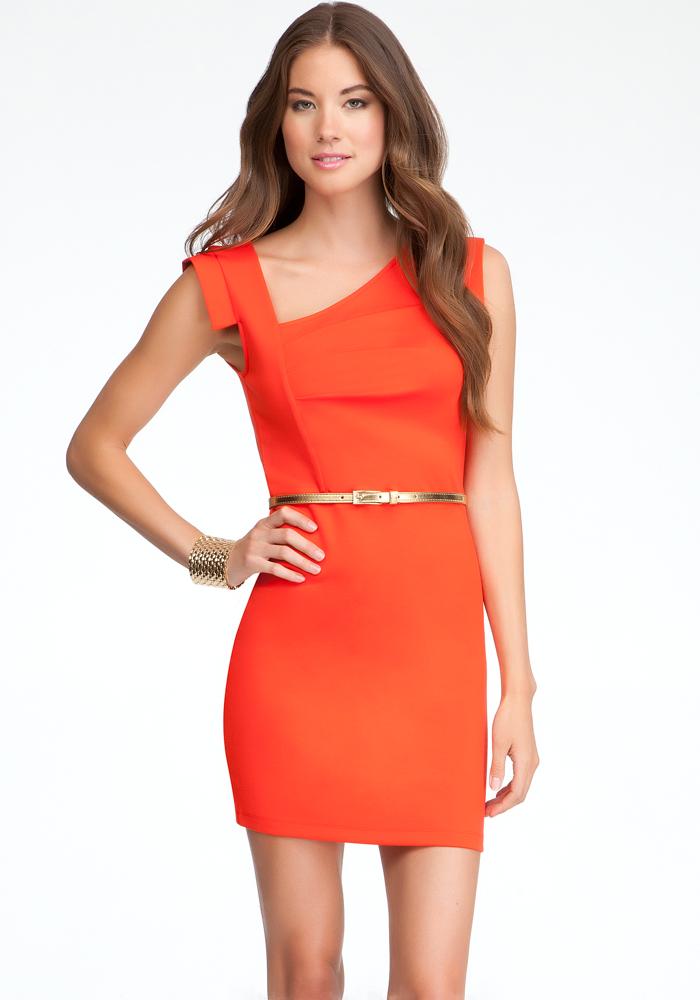 Eloise Asymmetric Neckline Dress