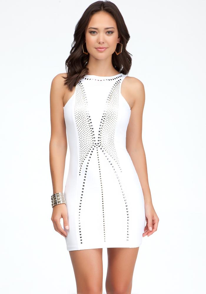 Open Back Studded Dress