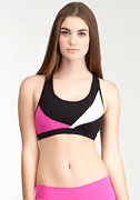 Spliced Colorblock Bra - BEBE SPORT at bebe