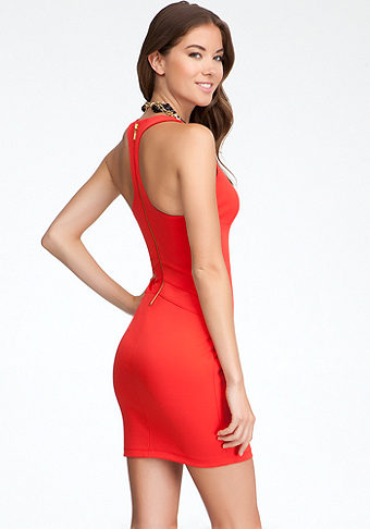 bebe Racerback Fitted Dress