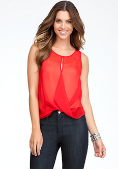 Crisscross Drape Tank - ONLINE EXCLUSIVE at bebe