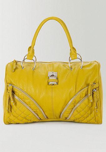 bebe Quilted Padlock Weekender Bag - WEB EXCLUSIVE