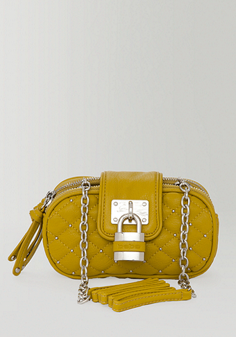bebe Quilted Padlock Crossbody - WEB EXCLUSIVE