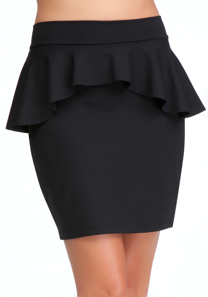 Peplum Knit Pencil Skirt - ONLINE EXCLUSIVE