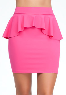 Peplum Pencil Knit Skirt at bebe