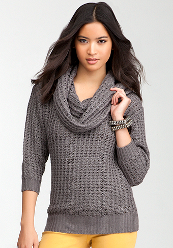bebe Marilyn Cowl Neck Sweater