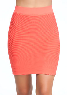 Textured Bodycon Skirt at bebe