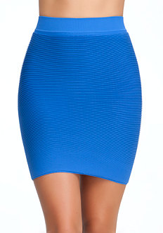 Textured Bodycon Skirt - ONLINE EXCLUSIVE at bebe