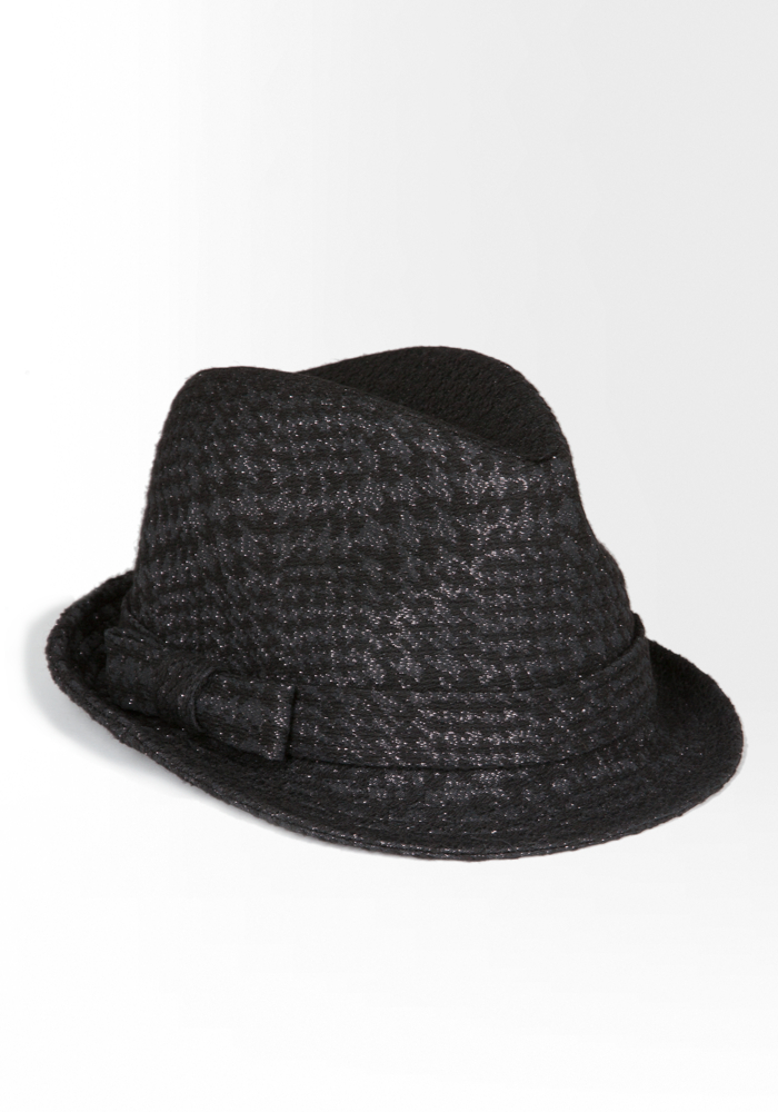 Metallic Houndstooth Fedora
