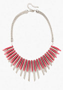 Metal Geometric Statement Necklace at bebe