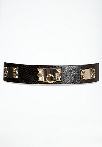 bebe Pyramid Lock Stretch Belt