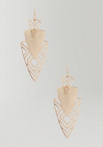 bebe Cutout Tribal Statement Earring
