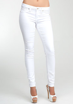 bebe Logo Super Stretch Skinny Jeans at bebe