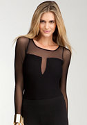 bebe Plunging V-Neck Bodysuit
