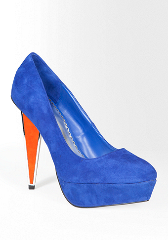 bebe Lauren Colorblock Geometric Heel Pump