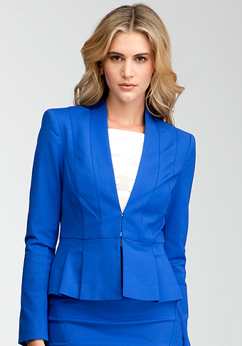 bebe Pleated Bottom Jacket