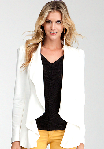 bebe Lightweight Waterfall Blazer