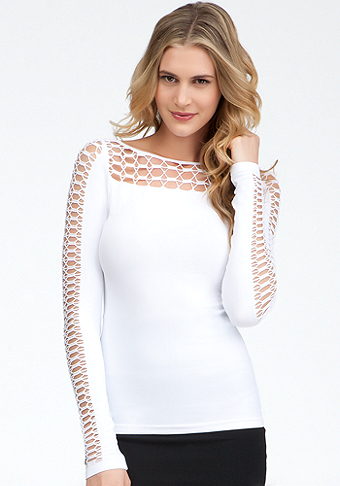 Contour Slash Top - ONLINE EXCLUSIVE at bebe