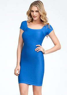 bebe Mini Ottoman Bodycon Dress
