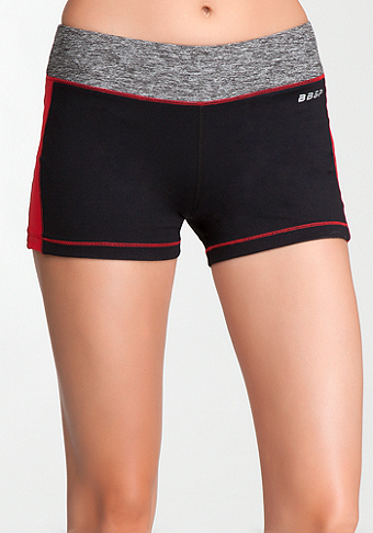 Spacedye Shorts - BEBE SPORT ONLINE EXCLUSIVE at bebe