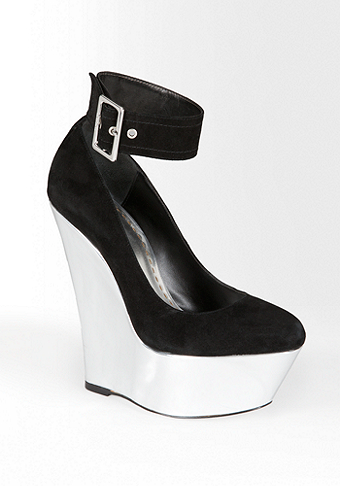 bebe Isabella Mirrored Wedge