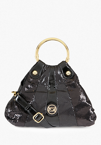 bebe Fabric Block Mini Crossbody