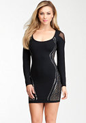 bebe Studded Long Sleeve Dress - bebe Addiction