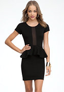 Fina Ponte Peplum Mini Dress - ONLINE EXCLUSIVE at bebe