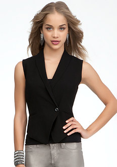 bebe Mary Asymmetric Vest