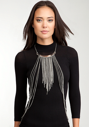 bebe Chain Fringe & Collar Body Jewelry