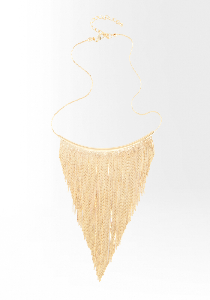 Fringe Necklace - Gold - 1Sz