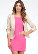Peplum Leather Jacket - ONLINE EXCLUSIVE at bebe