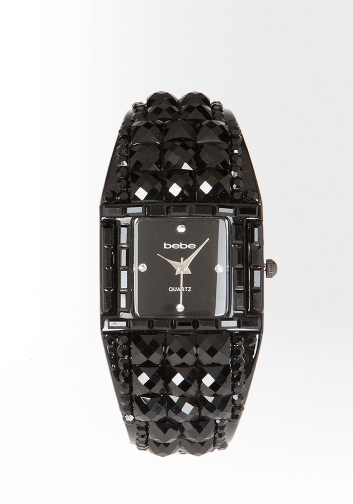 Jeweled Rhinestone Cuff Watch - WEB EXCLUSIVE