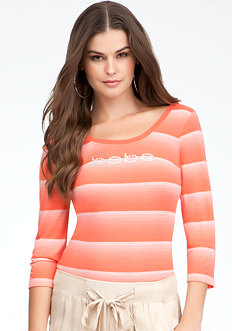 Logo Ombre Stripe Top - ONLINE EXCLUSIVE at bebe