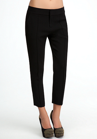 bebe Molly Pintuck Crop Pant
